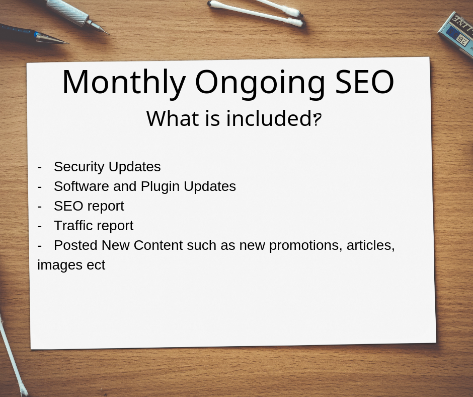 Monthly Ongoing SEO canberra